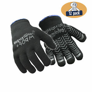 Refrigiwear Palm Coated Herringbone Grip Knit Work Gloves pack Of 12 Pairs