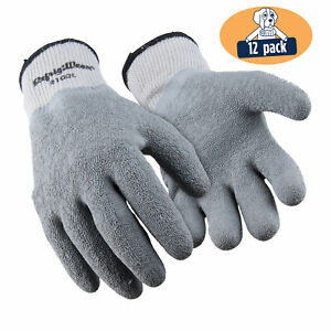 Refrigiwear Full Dip Ergo Work Gloves With Waterproof Latex Coating 12 Pairs
