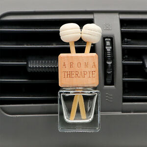 Car Hanging Air Freshener Glass Bottle Essential Oil Diffuser Perfume Accessory