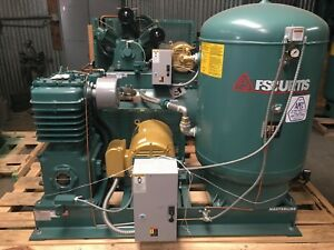 Fs curtis 30hp 2 stage Reciprocating Fully Packaged Air Compressor 102cfm At 175