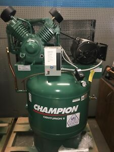 Vrv7 8 Champion 7 5hp Air Compressor 2 stage Single Phase 80 Gallon 25 8cfm 175