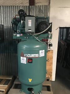 Fs curtis Ca10 10 hp 120gallon 2 stage Air Compressor 230volt Single Phase 32cfm