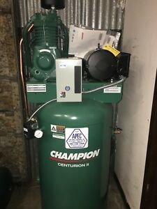 Vrv5 8 Champion Air Compressor 80 gallon 2 stage 230v Single Phase 17 3cfm 175