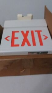 Dual Lite Hanging Exit Sign Light New In Box 13 X 9 Free Shipping