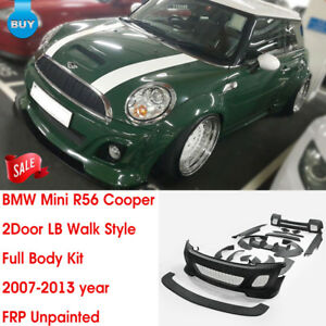 For Bmw Mini Cooper R56 07 13 Lb Walk Style Frp Unpainted Full Wide Body Kits