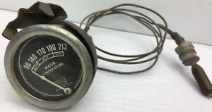 Vintage Model A Ford Rochester Accessory Water Temperature Gauge Working