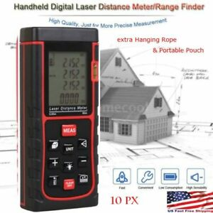 10px 60m Digital Handheld Laser Distance Meter Range Finder Measure Diastimeter