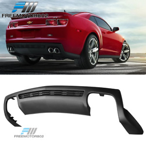 Fit 10 13 Chevy Camaro Zl1 Style Rear Bumper Diffuser Spoiler Lip Unpainted Pp