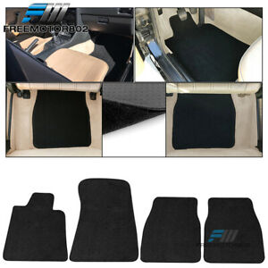 Fits 84 91 Bmw E30 3 Series Coupe Floor Mats Carpets Front Rear 4pc Black