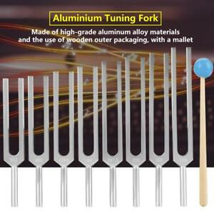 8pc Aluminum Medical Tuning Fork Chakra Heal Sound Vibration Therapy mallet box