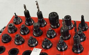Lot Of 18 Bt40 Endmill Tool Holders collet Chucks End Mill Holders Morse Taper