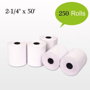 250 Roll 2 1 4 x50 Terminal Receipt Thermal Paper Pos Cash Register Credit Card