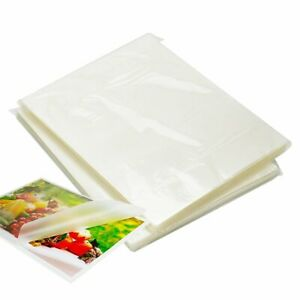 100 Pack Thermal Laminating Pouches 9 X 11 5 3 Mil Letter Size Clear Crystal