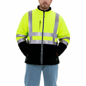 Refrigiwear Mens High Visibility Insulated Softshell Jacket With Reflective Tape