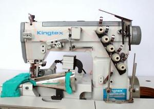 Kingtex Ft6503 Coverstitch 2 needle 4 thread Binder Industrial Sewing Machine
