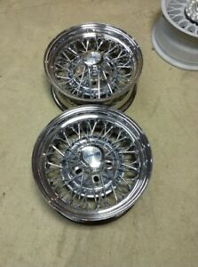 2 14x6 Wire Cragar 50 spoke Old School Hot Rod Lowrider