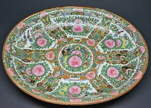 Antique Chinese Export Rose Medallion Tray 11 X 9 Inches