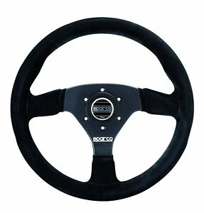 Sparco 015r383psn R 383 Suede Steering Wheel Black R383