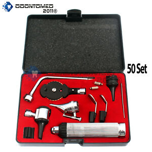 50 Set Ent Opthalmoscope Ophthalmoscope Otoscope Nasal Diagnostic Set Kit