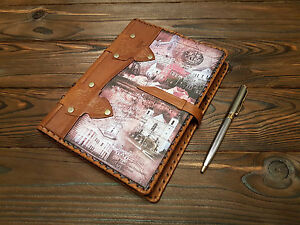Genuine Leather Daily Planner A5 Brown Art Journal Leather Pocket Secret Book