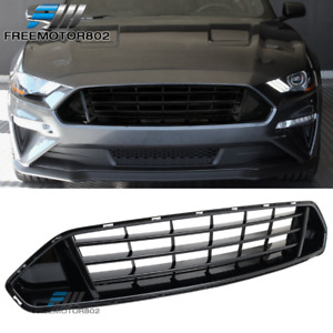 Fits 18 19 Ford Mustang Upper Grid Grille Grill Glossy Black Abs