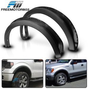 Fits 09 14 Ford F150 Oe Style Fender Flares 4pc Set Black Pp