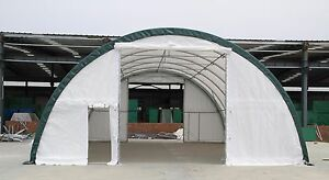 New 30x65x15 Canvas Fabric Storage Building Shelter Shop Metal Frame W Warranty