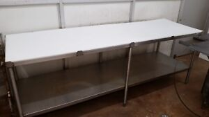 8 Stainless Steel Prep Table W Textured Cutting Board