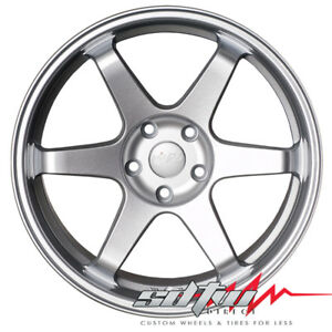 18 Inch Miro 398 Full Silver Staggered Wheels 5x100