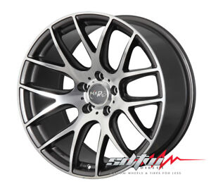 19 Inch Miro 111 Anthracite Staggered Wheels 5x120