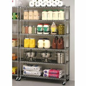 6 tier shelving unit Wire Racks For Storage Restaurant Large Kitchen Commercial