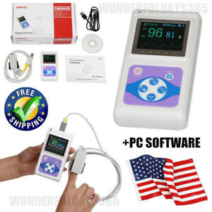 Contec Oled Pulse Oximeter Pulse Oxygen Saturation Finger Pulse Rate Usa Cms60d