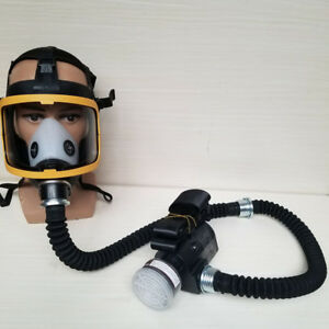 Us Electric Constant Flow Supplied Air Fed Full Face Gas Mask Respirator System