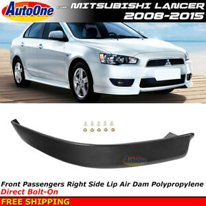Passenger Front Bumper Spoiler For Mitsubishi Lancer 08 15 Rally Style Air Dam