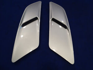 2015 2016 2017 Mustang Hood Heat Extractor Louver Pair Silver New Take Off