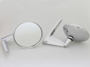 Amx Zil 111 New Pair Chrome Fender Door Mirrors Left Right Side 2 Pieces 1959 70