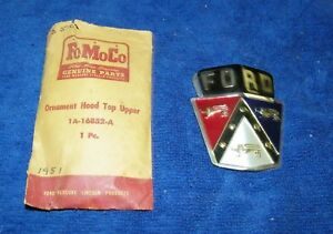 1951 Ford Nos Hood Emblem In The Original Ford Package