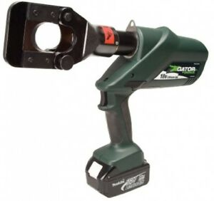 Greenlee Esg45l11 Gator Battery powered Acsr Cable Cutter With 120v Charger