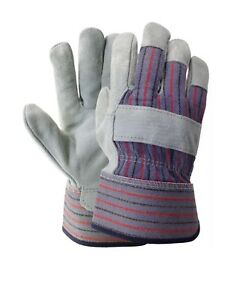 New Double Palm Split Leather Work Glove Available In Large And X large Size
