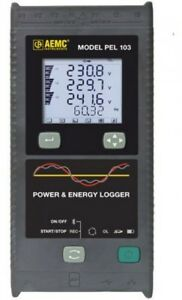 Aemc 2137 52 Single three phase Power And Energy Data Logger With Lcd