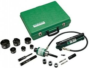 Greenlee 7306 Ram And Hand Pump Hydraulic Driver Kit With 6 Conduit Sized