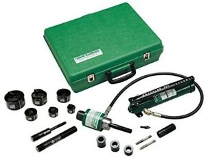 Greenlee 7306sb Ram And Hand Pump Hydraulic Driver Kit With 6 Slug Buster