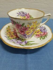Rosina Bone China Floral Bouquet Teacup And Saucer