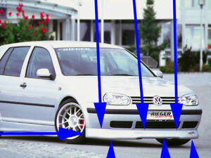 Rieger R rs Front Lip Spoiler For Vw Golf Gti Mkiv Golf 4