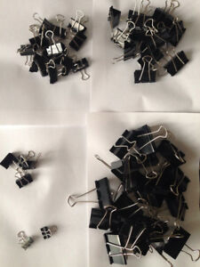 Binder Clips Lot random Size