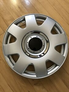 Fits Vw Volkswagen 4 Pc Set Hub Caps Abs Silver 15 Inch Rim Wheel Center Covers