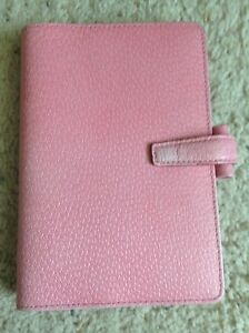 Filofax Personal Pink Pimlico With Fading On The Front