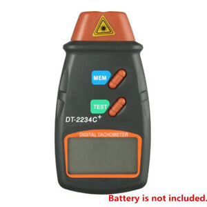 Non Contact Digital Laser Tachometer Display Small Engine Rpm Speed Tester Kit