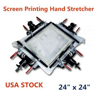 Us Stock 24 X 24 Screen Printing Hand Stretcher Fabric Mesh Stretching Tools