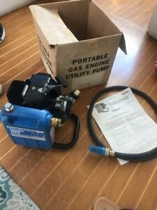 1983 Blue Angel Gas Engine Bgc 83 Utility Pump New Nos 21 Cc 2 Stroke Vintage